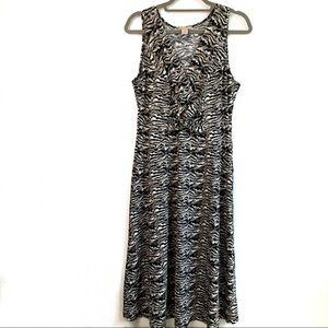 Jonathan Martin Sleeveless Print Dress size 14